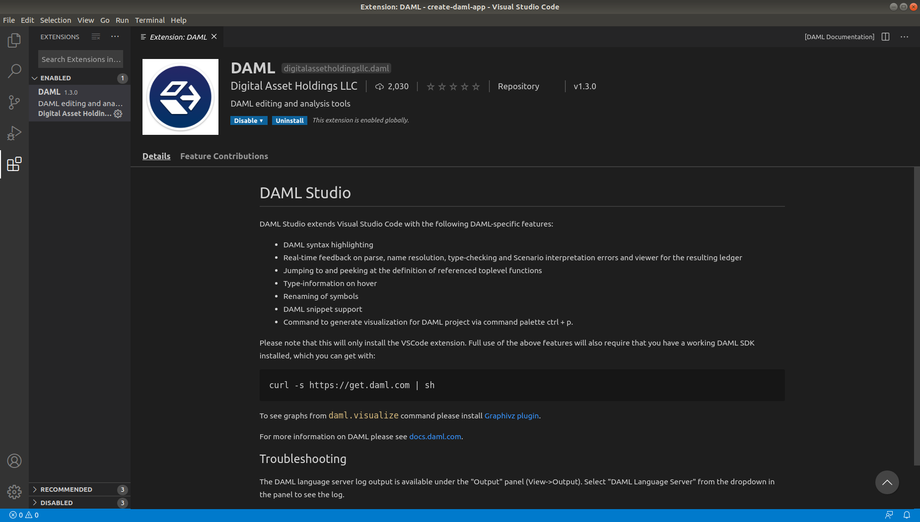 DAML Studio — DAML SDK 2019-08-07 documentation